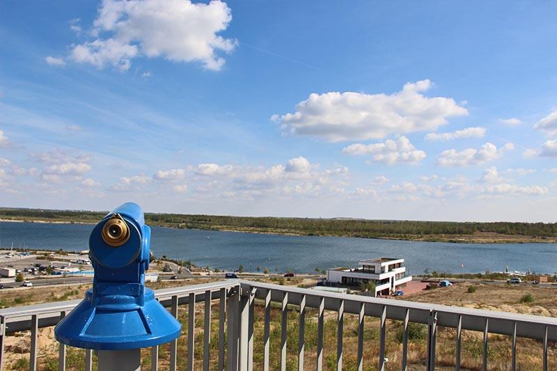 Aussicht von der Aussichtsplattform am Kap Zwenkau