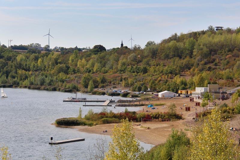 Strand Stöbnitz und Campingplatz Geiseltalsee