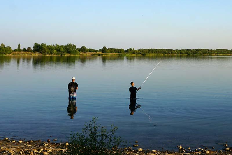 Angeln am Schladitzer See