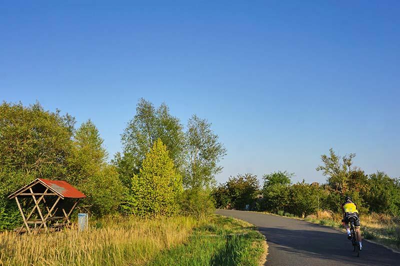Fahrradfahren Schladitzer See